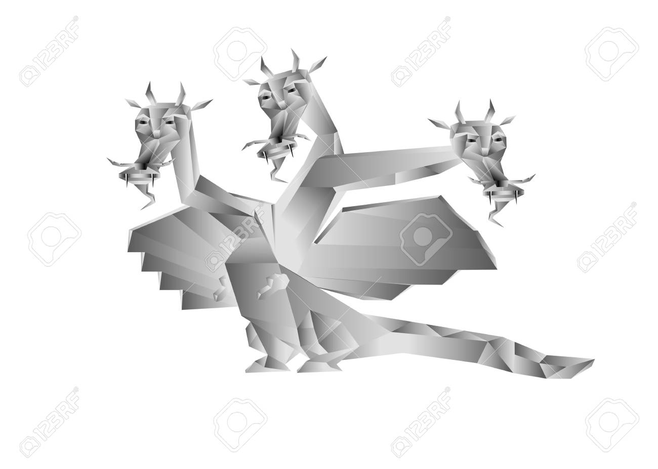 Fantastic dragon a symbol 2012 new years on white background Stock Photo - 11663525
