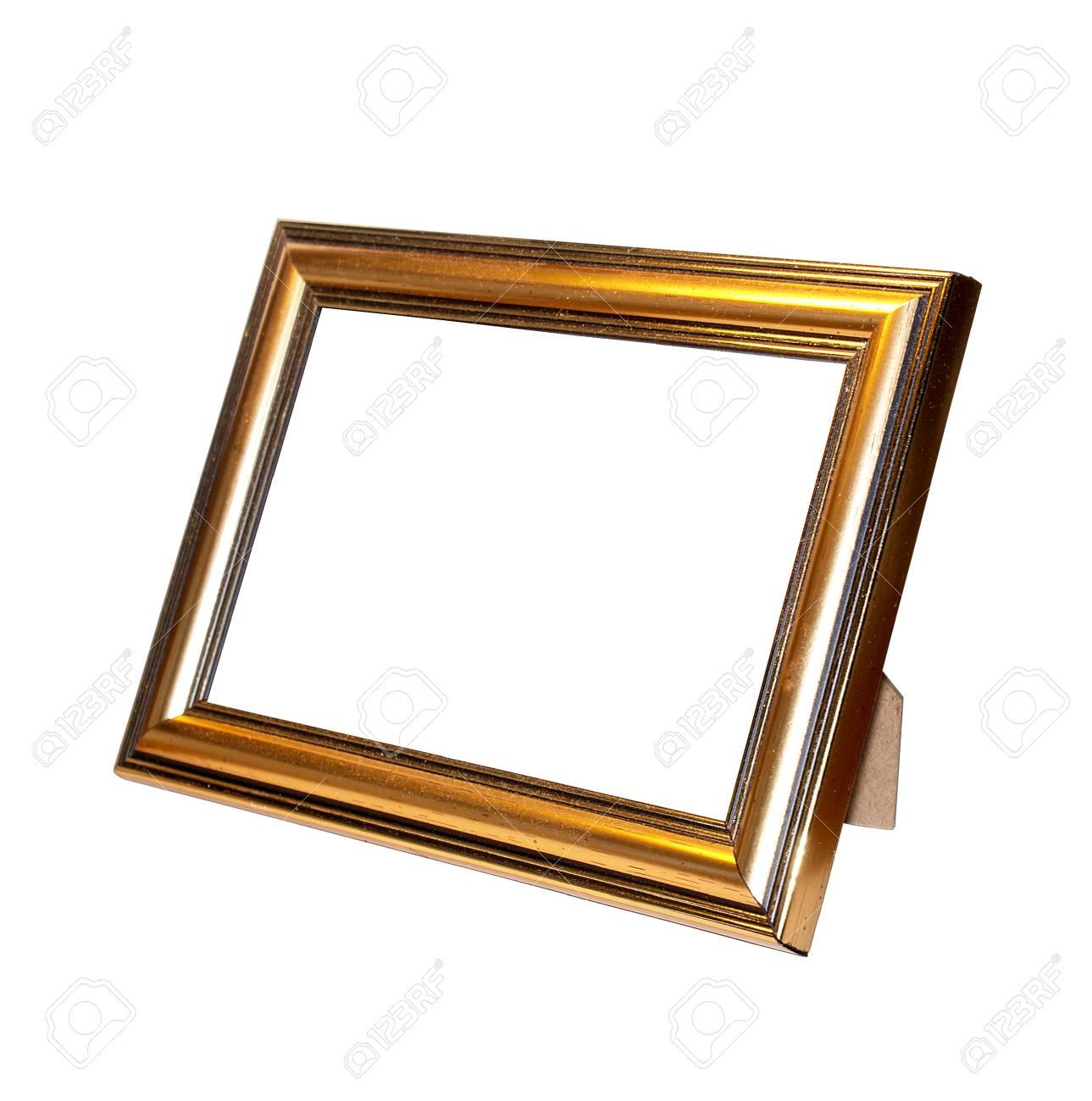 Dekorative Rahmen Für Ein Foto Auf Weißem Hintergrund Lizenzfreie ...