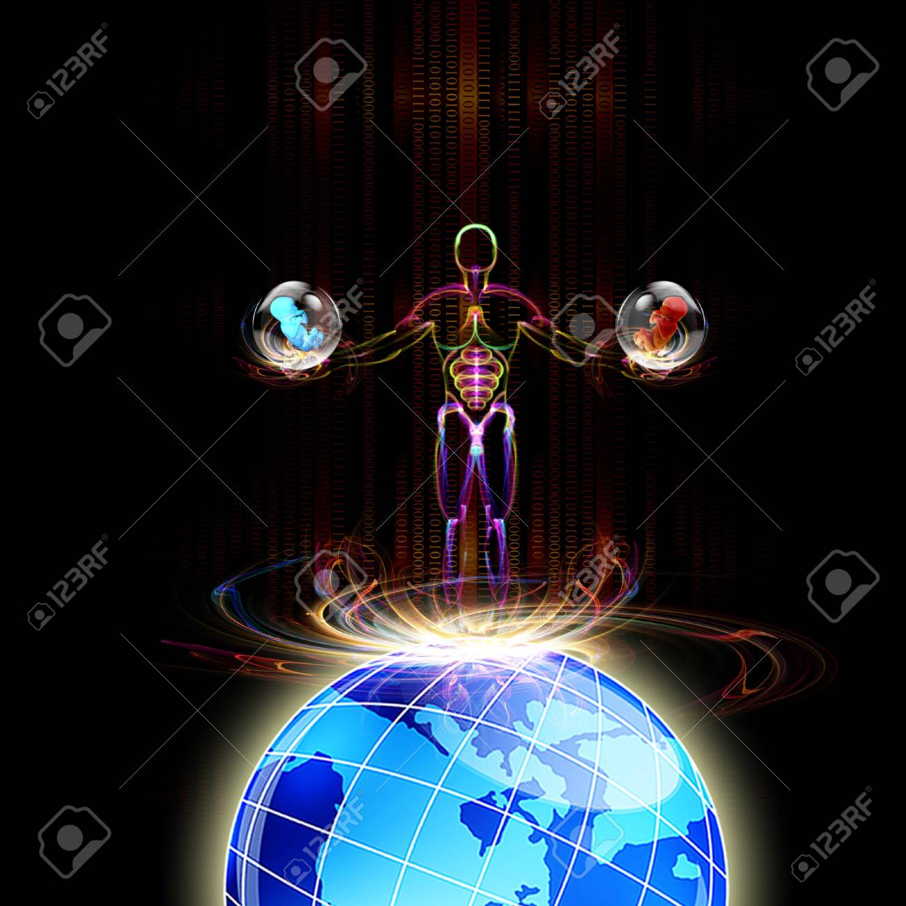 Genetic engineering Scientific innovative  research Stock Photo - 16514616