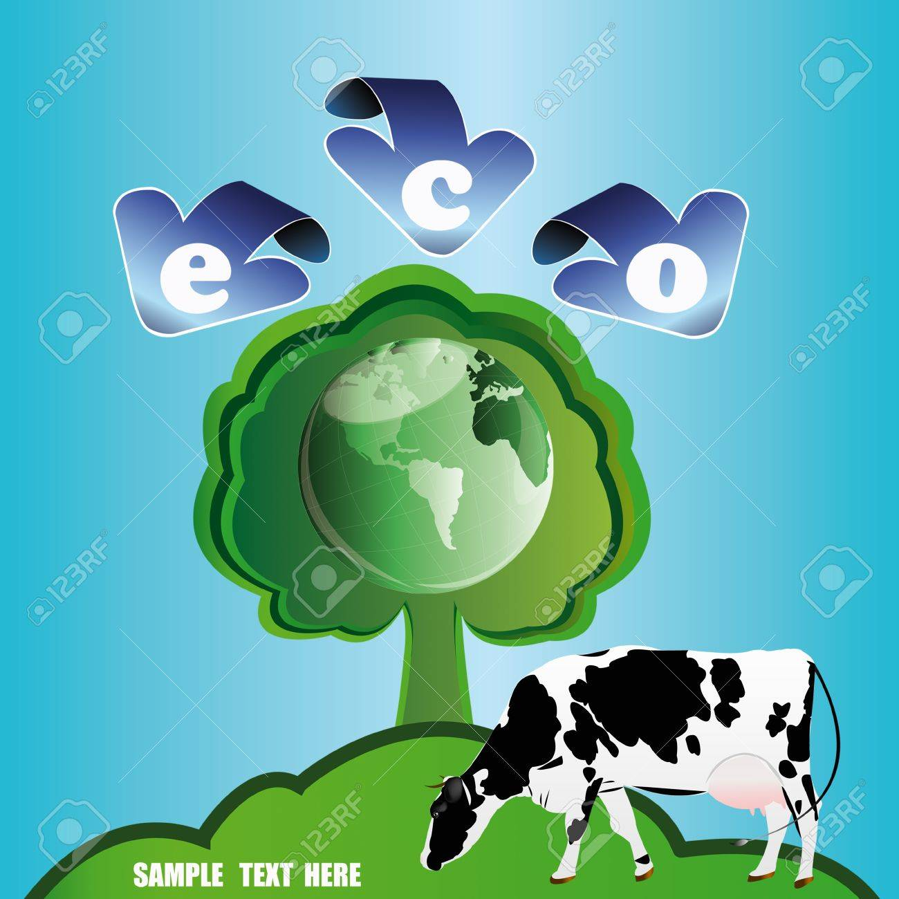 Ecology concept Healthy food and drink Stock Vector - 16882581