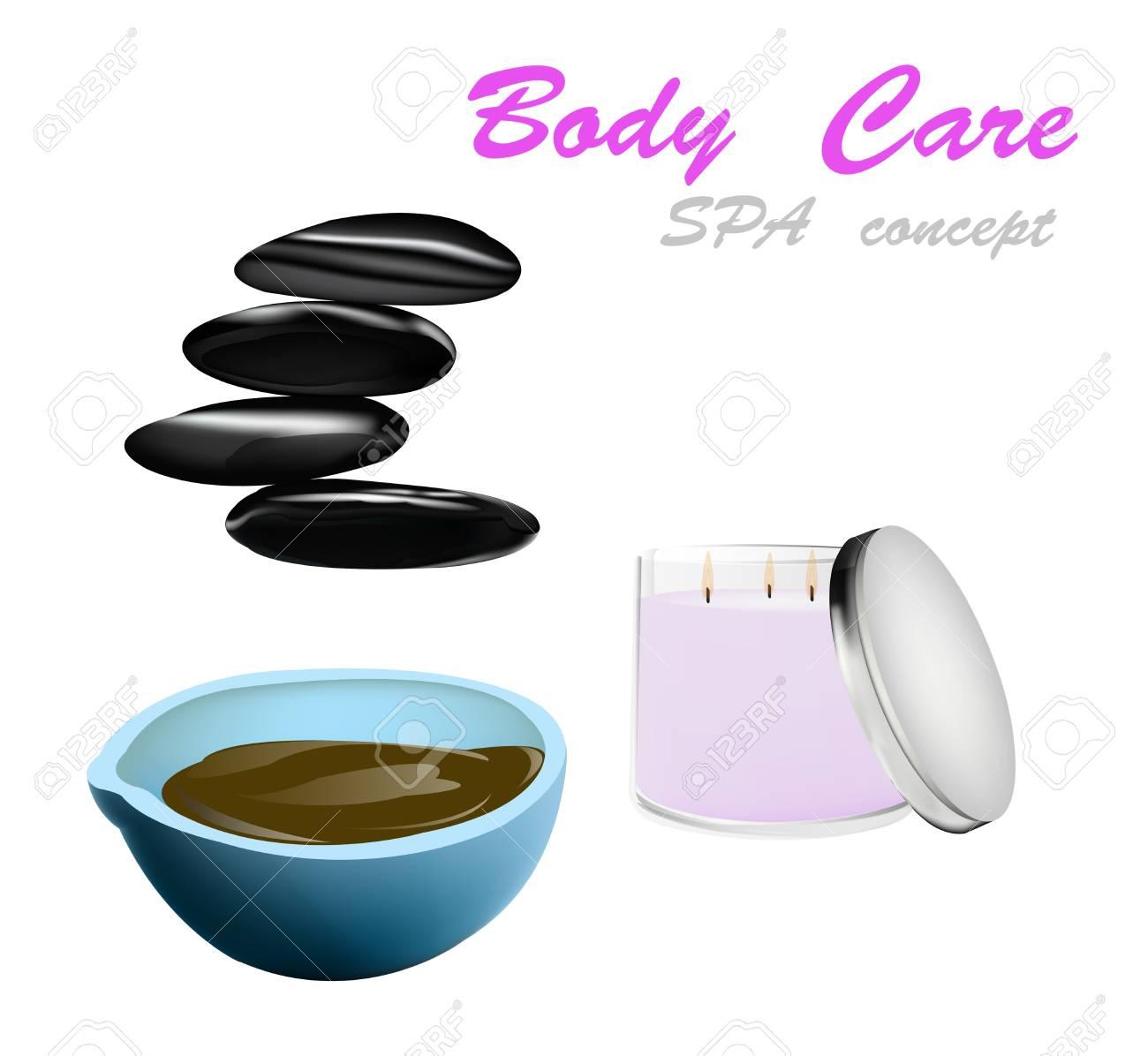 Body care The spa procedure concept Stock Vector - 16977949