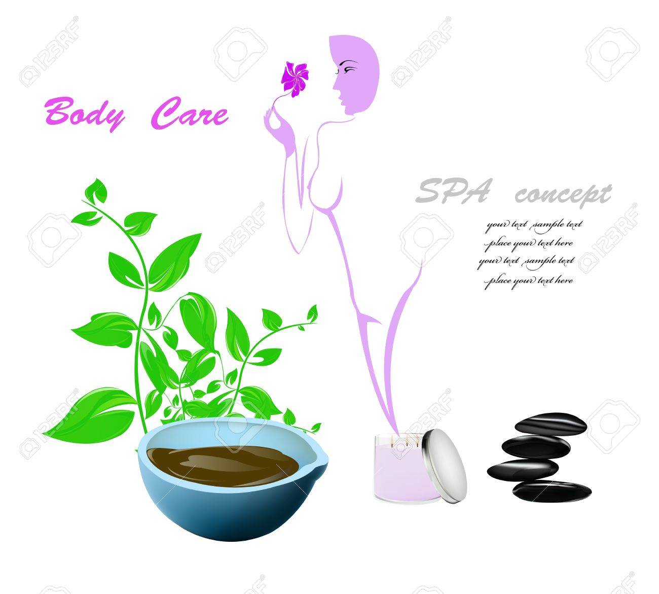 Spa concept Body care and medicine cosmetology Stock Vector - 17010066