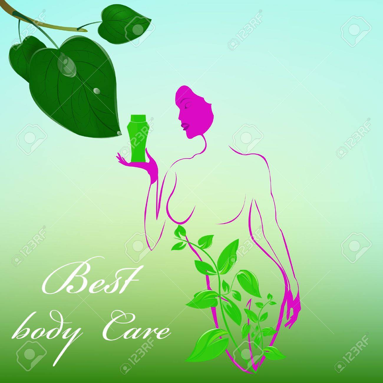 Best body care Healthy plants female medicine cosmetic Stock Vector - 17010135