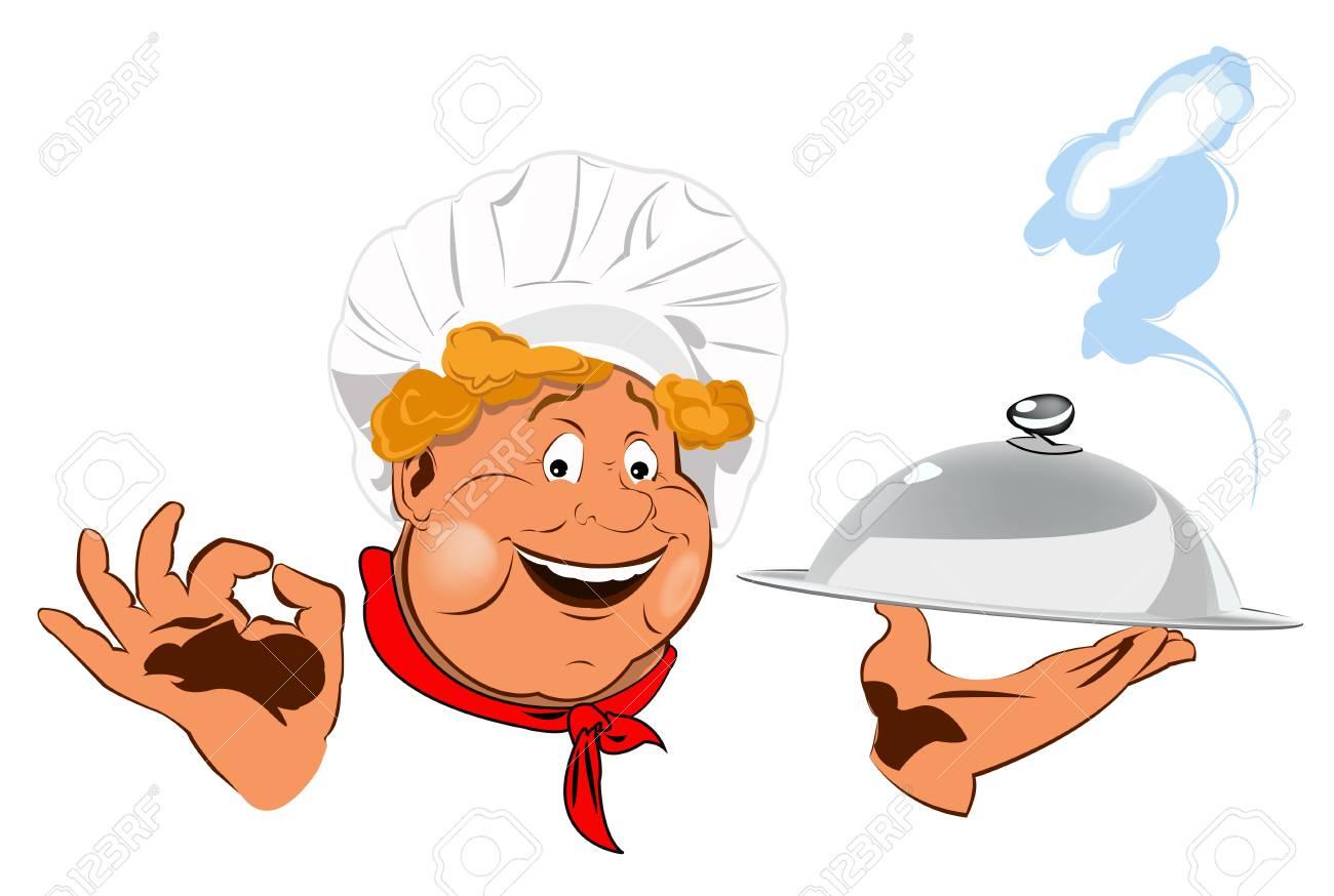 Le Chef Drole Et Meilleur Aliment Pour Les Gourmet Banque D Images Et Photos Libres De Droits Image 17955523