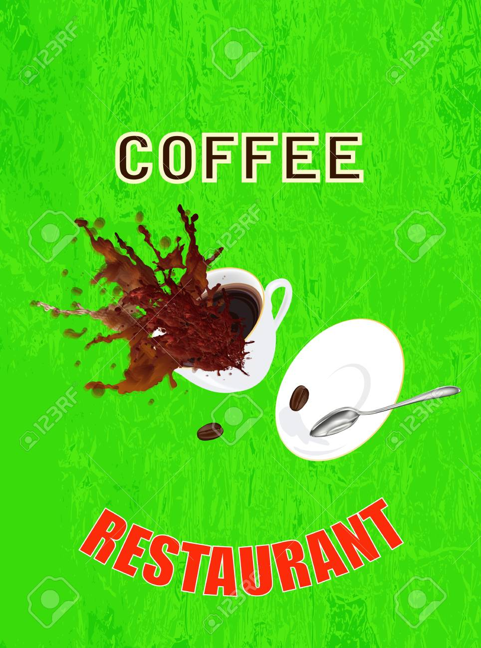 Coffee cup on a abstract background Restaurant business Vector Stock Vector - 18915739