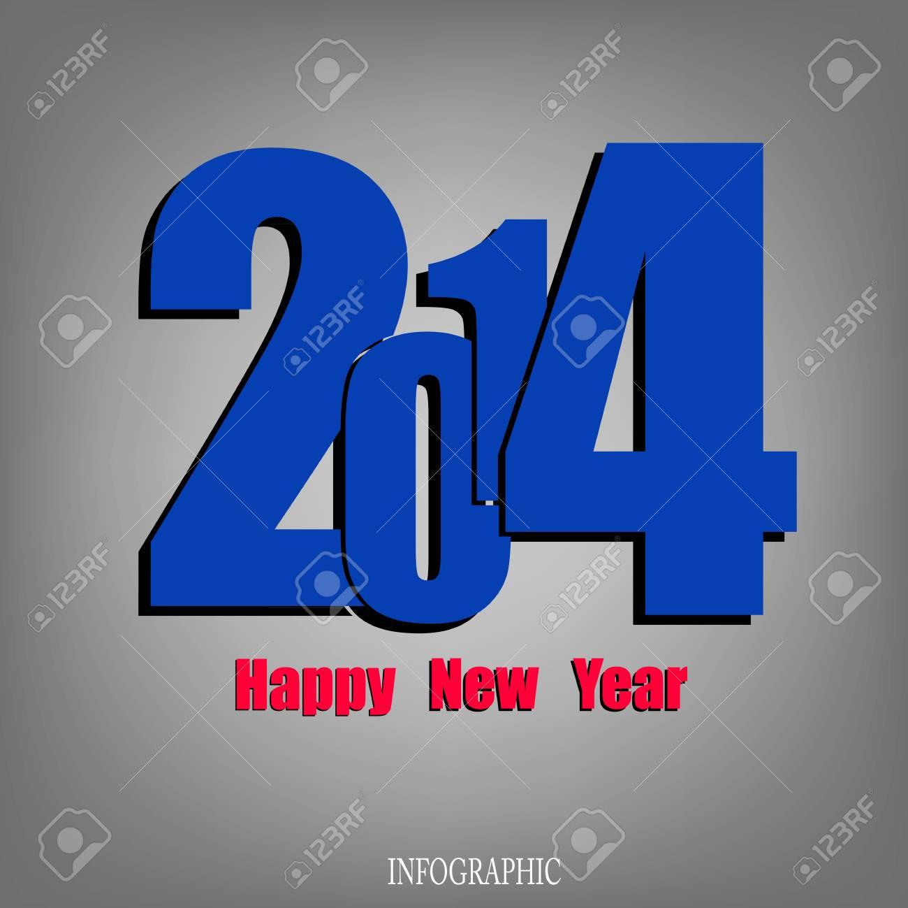 Creative Happy New Year 2014 Infographic Calendars Vector Stock Vector - 22951383