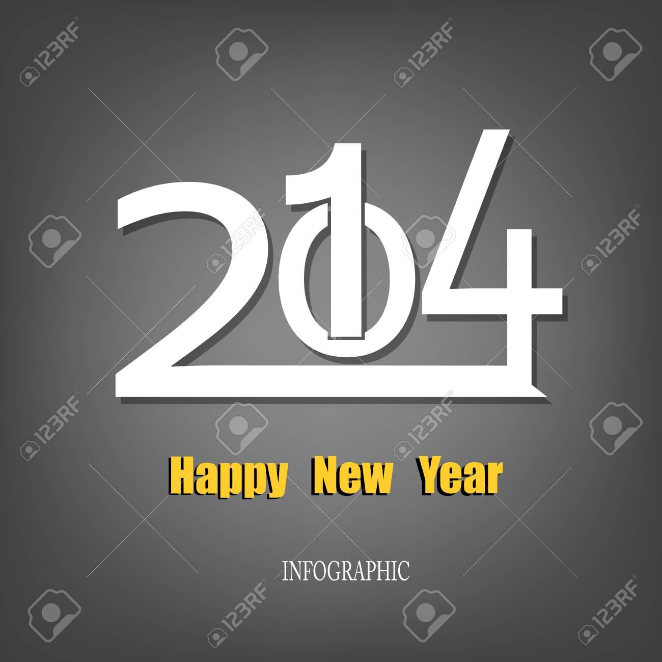 Creative Happy New Year 2014 Infographic Calendars Vector Stock Vector - 22951497