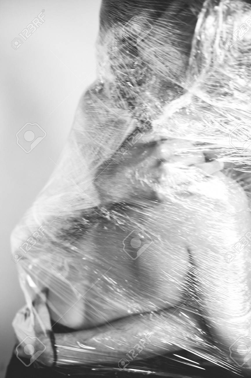 Girl And Boy Hugging On White Background