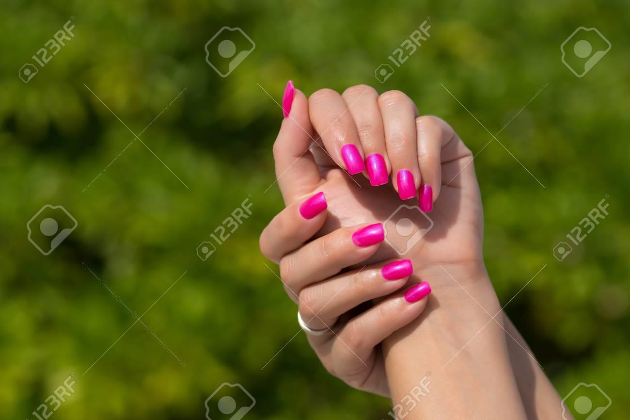 Hermosa Uñas De Color Rosa Ornamento - Ideas Para Pintar Uñas - knxc ...
