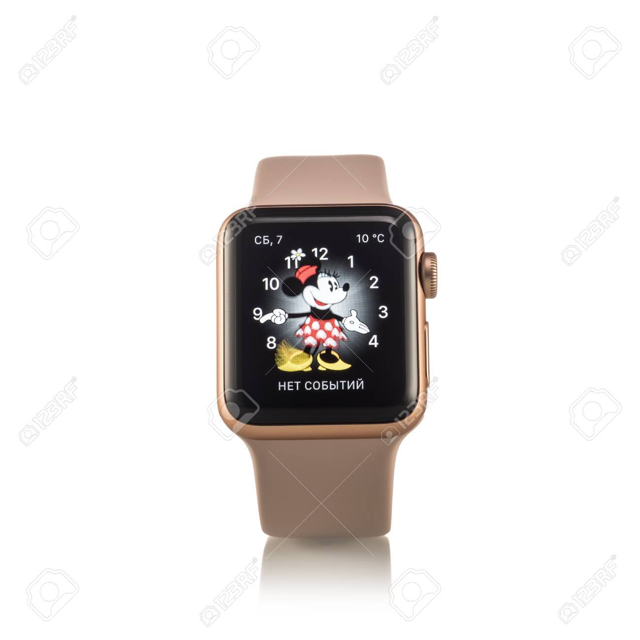 sports shoes fce9f 16562 MOSCOW, RUSSIA - OCTOBER 07, 2017: New Apple Watch Series 3 Gold ...