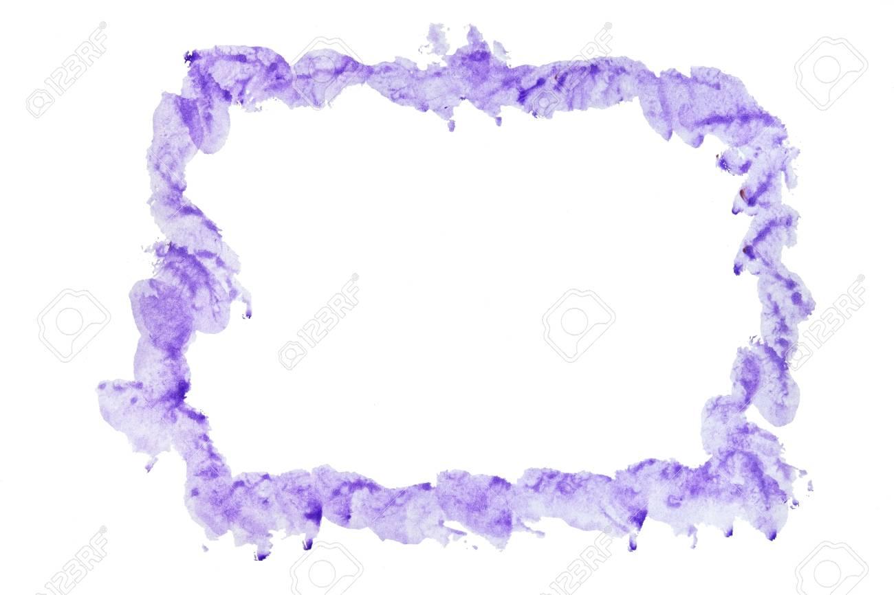 Marco De Acuarela De Color Púrpura Para El Fondo. Fotos, Retratos ...