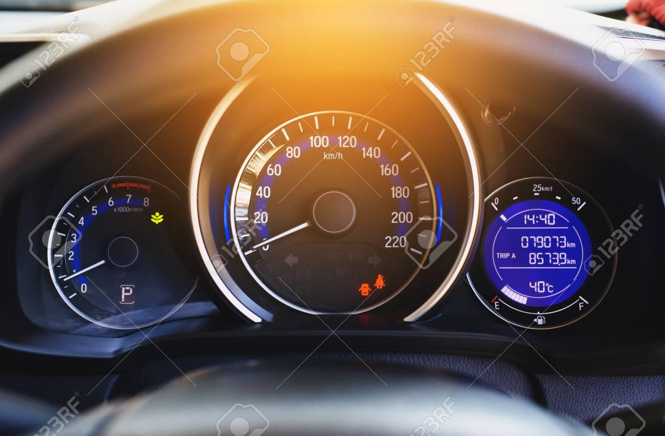 A Speed Meter Is Gauge That Measures And Displays Car Dashboard