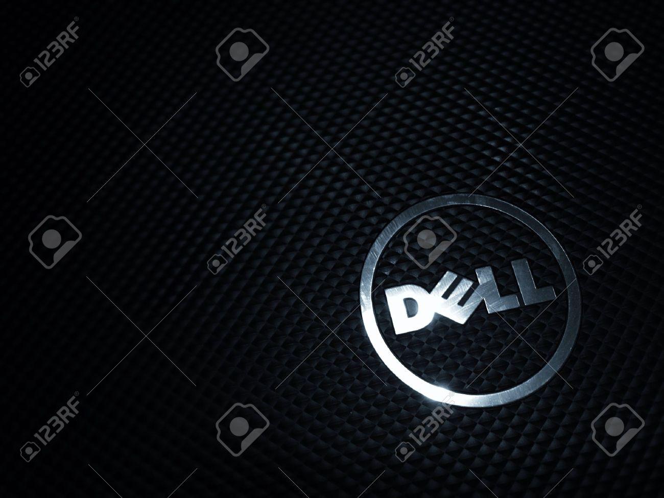 Dell ノート パソコンの壁紙 の写真素材 画像素材 Image