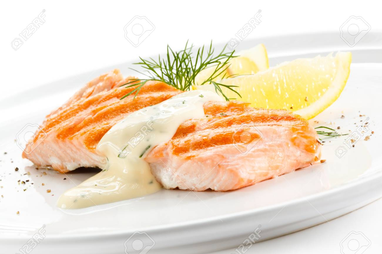 Grilled salmon Stock Photo - 18422320