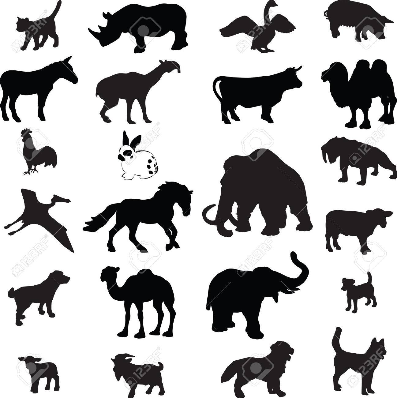 Animal silhouette Stock Vector - 7461952