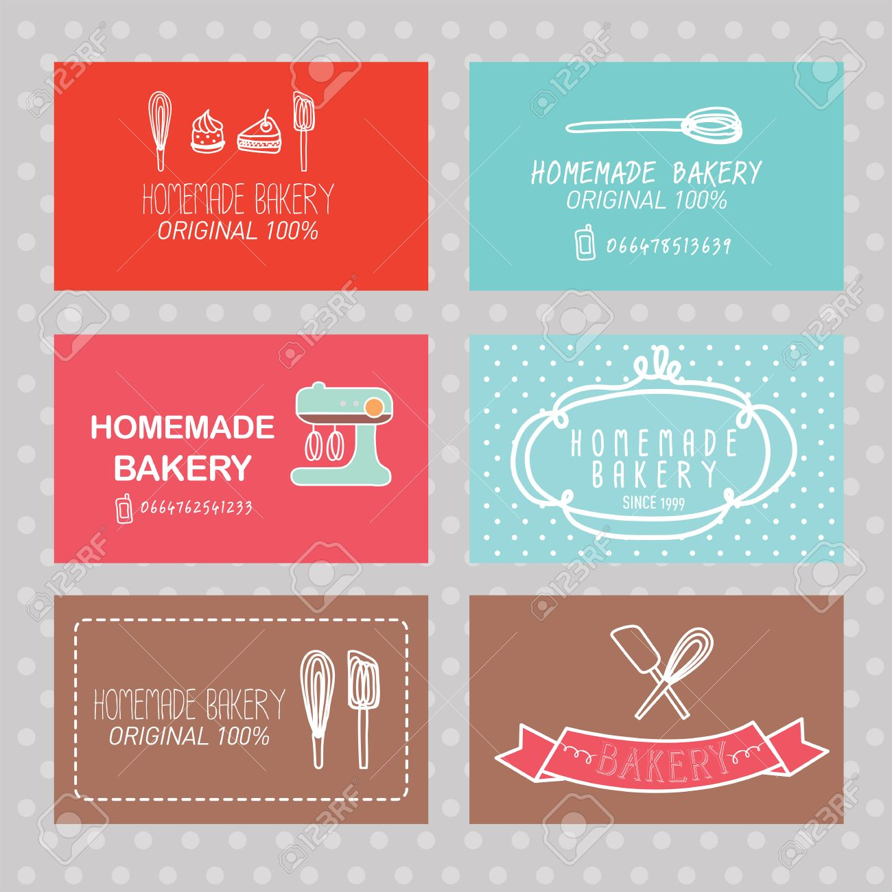 Bakery Business Card Royalty Free Cliparts Vectors And Stock