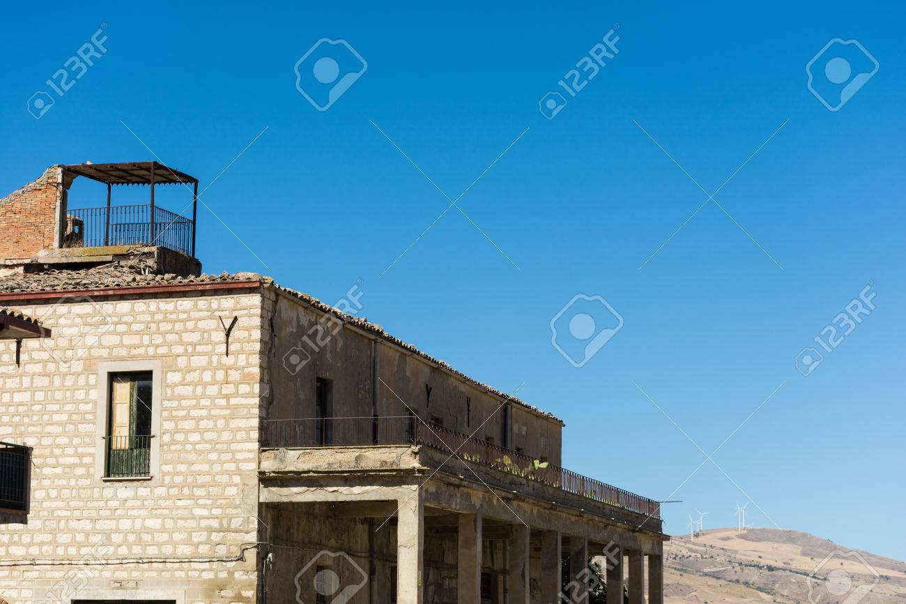 Ancient Sicilian Rural Architecture. Roofs With Old Clay Tiles ...