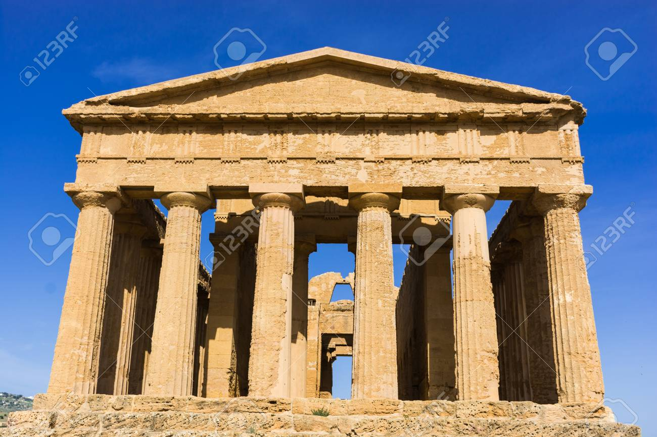 Abstract And Conceptual Of Ancient Greece In Agrigento The Greek