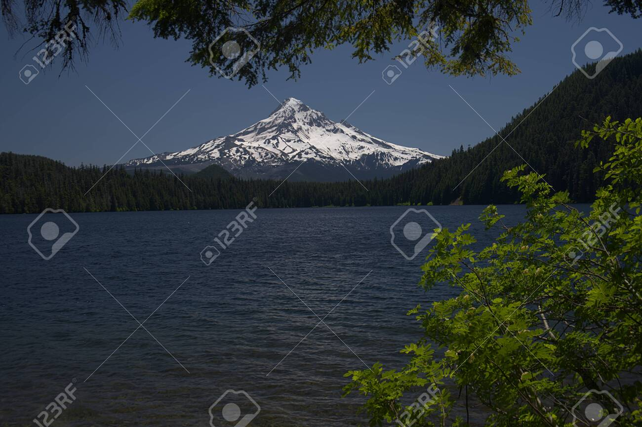 Lost Lake In The Mount Hood National Forest Of Oregon 4047