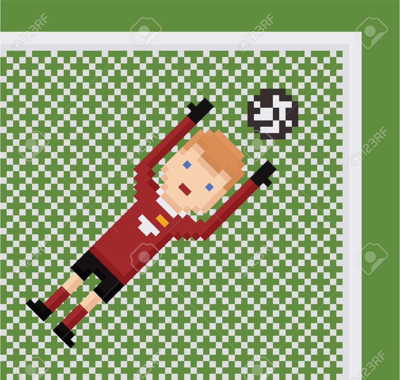 pixel art foot