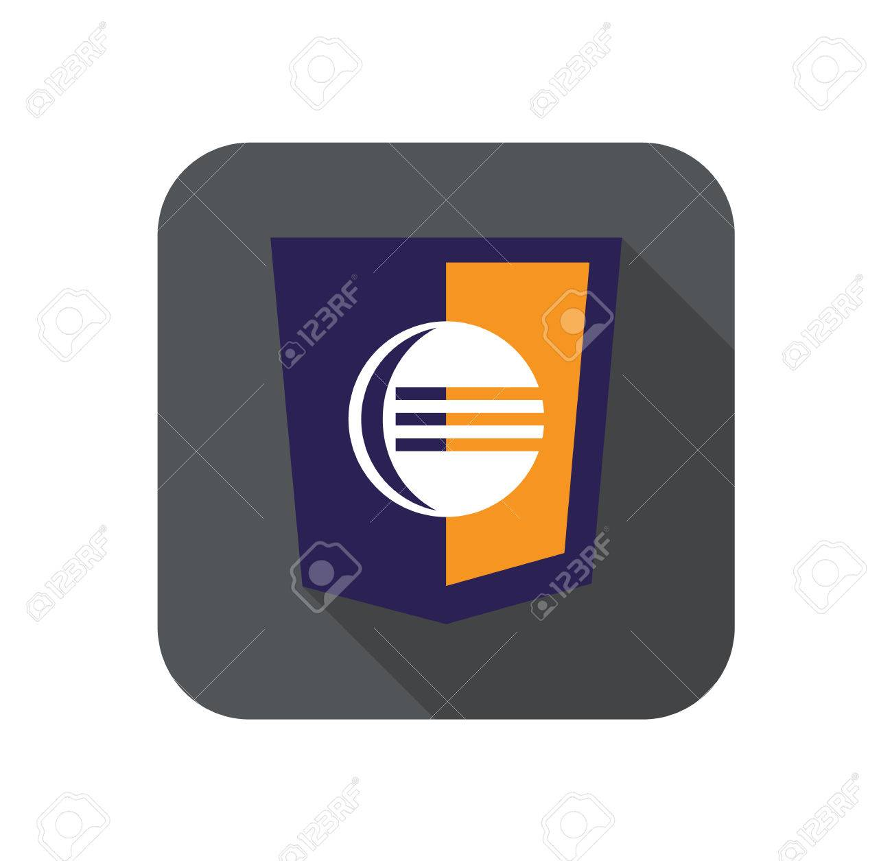 Vektor-Web-Entwicklung Schild - Code-Editor. Isolierten Flach Symbol ...