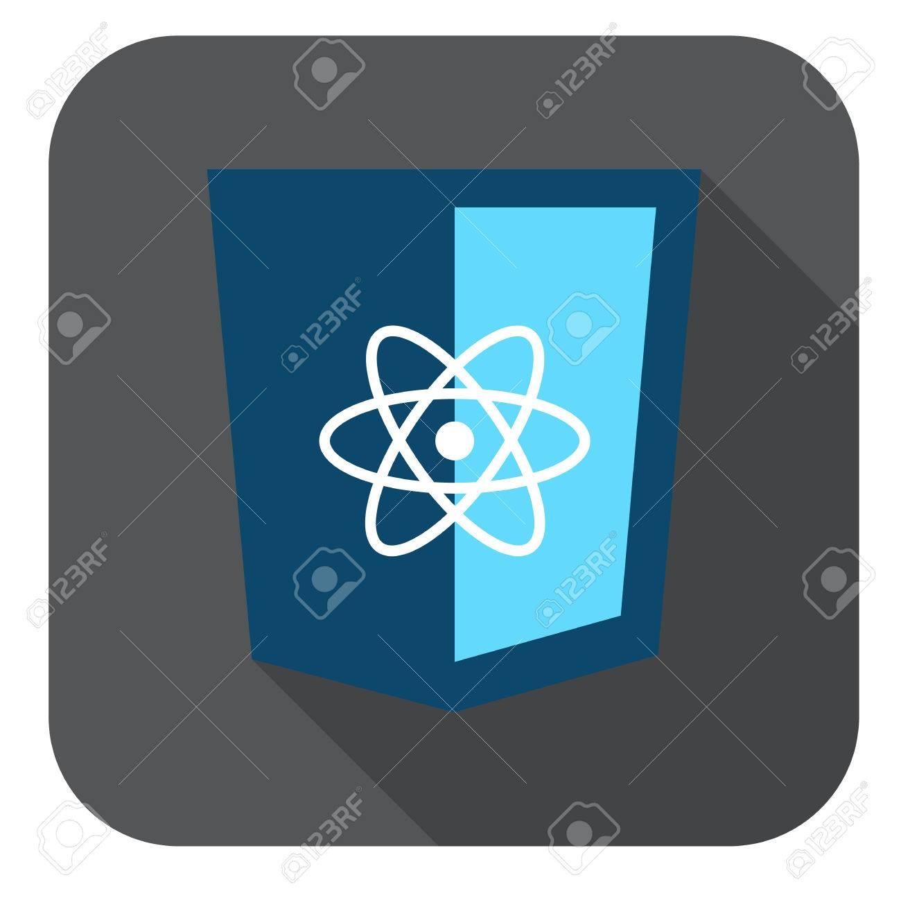 Vektor-Symbol-Blau Js Rahmen Web Shield - Isoliert Flache Design ...