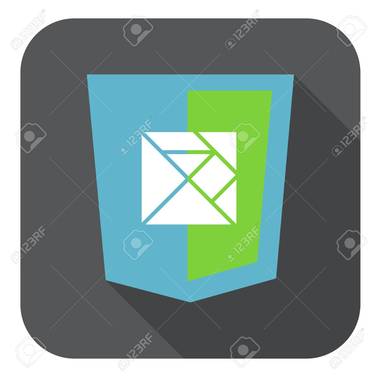Vector Web Development Shield Sign Html5 Javascript Lines Symbol