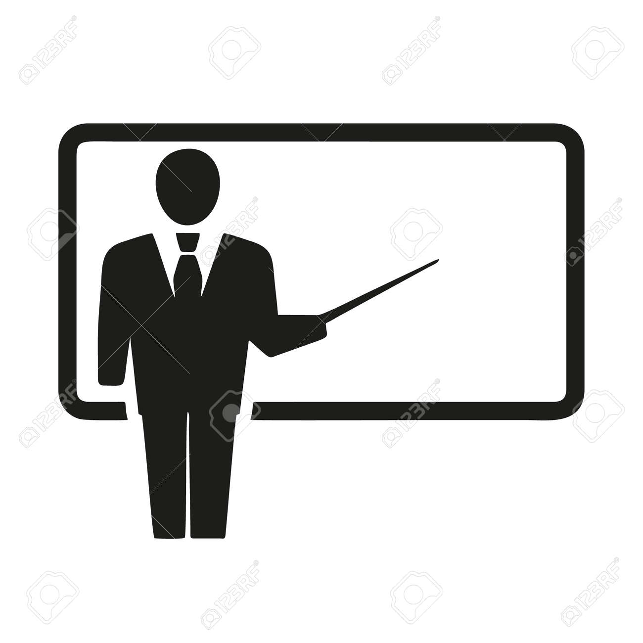 teacher icon isolated on white background from business training collection. teacher icon trendy and modern teacher symbol for logo, web, app, UI. teacher icon simple sign. - 156772374