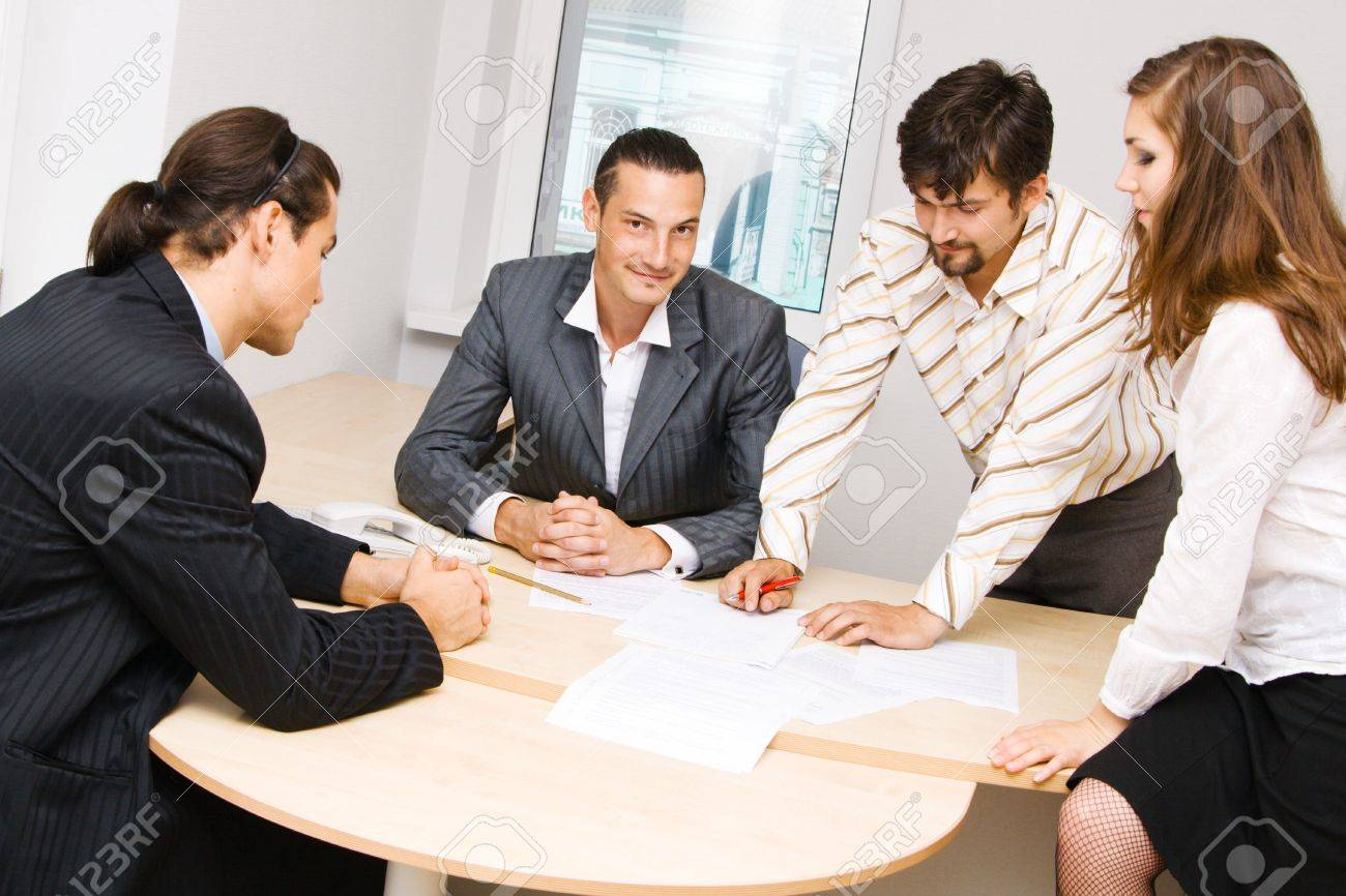 Photo of office workers having a discussion Stock Photo - 5324100