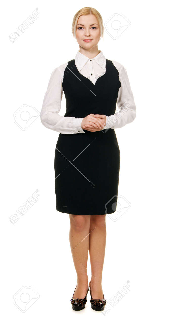 Young beautiful businesswoman full length portrait Stock Photo - 6522630