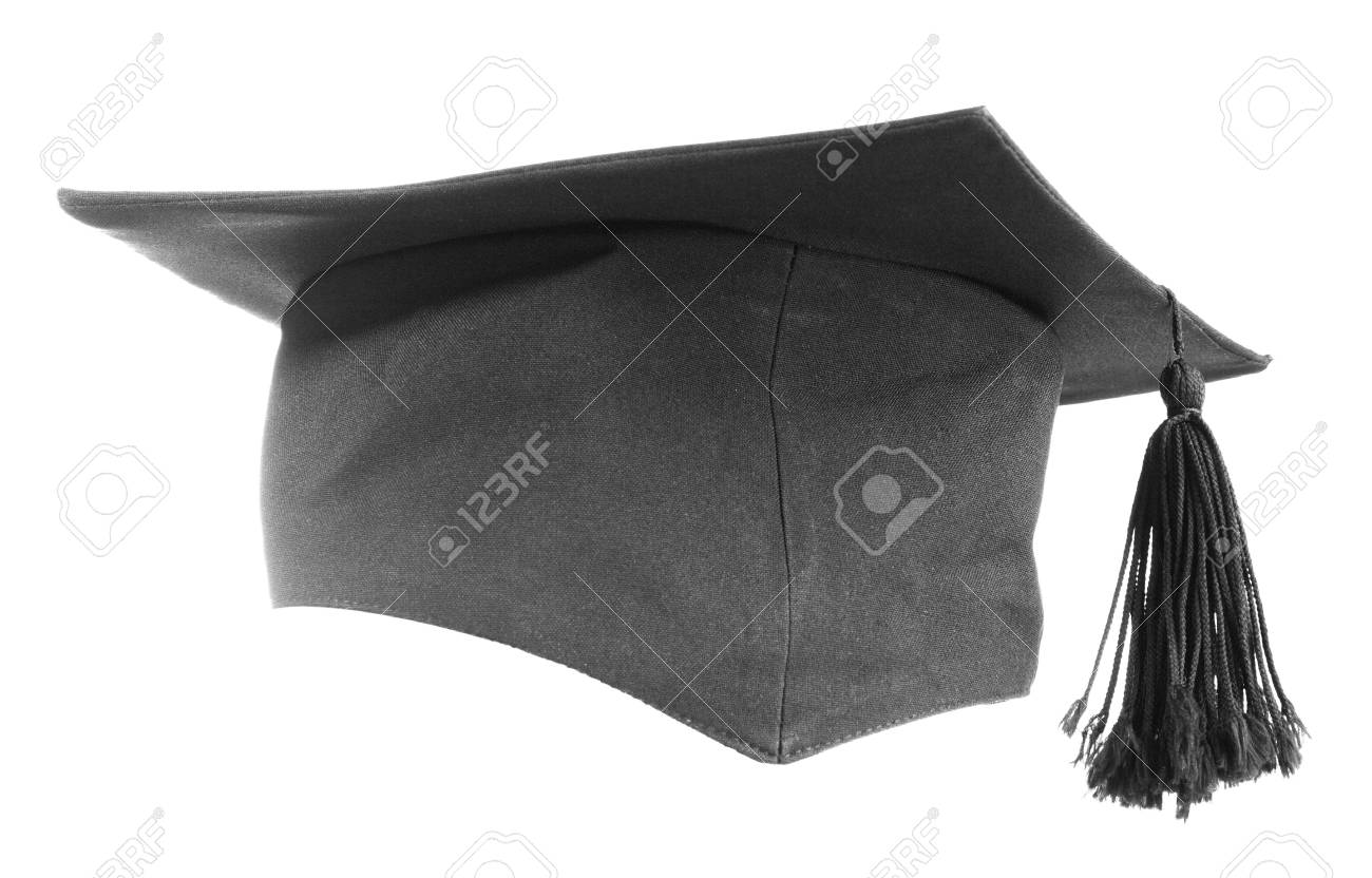Black graduation cap isolated on white background Stock Photo - 7306445
