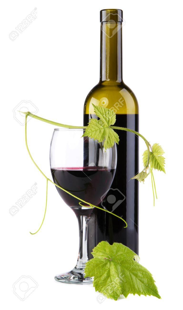 Bottle of red wine isolated on white background Stock Photo - 10196877