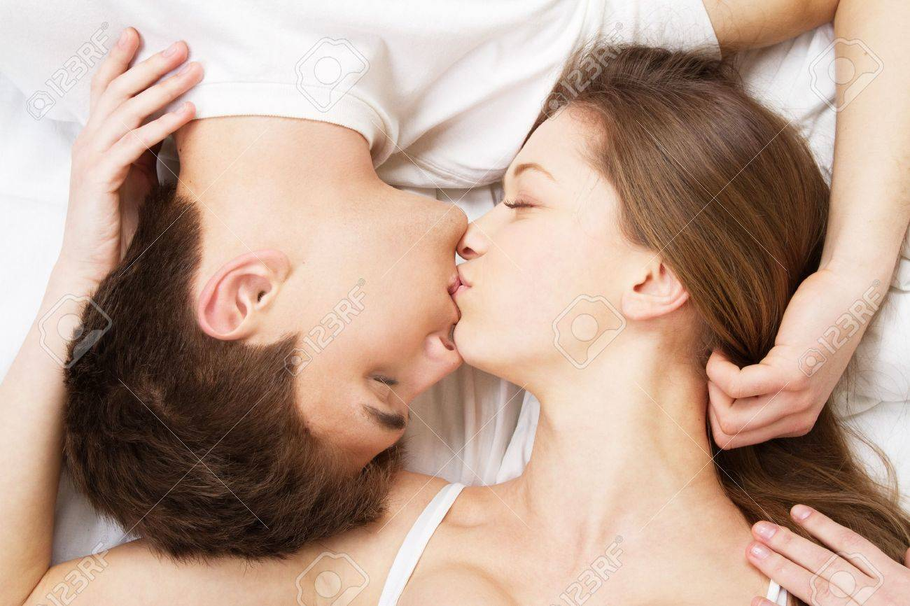 Beautiful Young Couple In Bed Face Portrait Stock Photo Picture Beautiful  Young Couple In Bed Face. Romantic Pics Of Couples In Bedroom