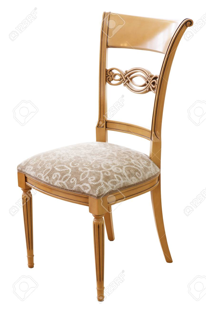 Classical style chair isolated on white background Stock Photo - 21446618