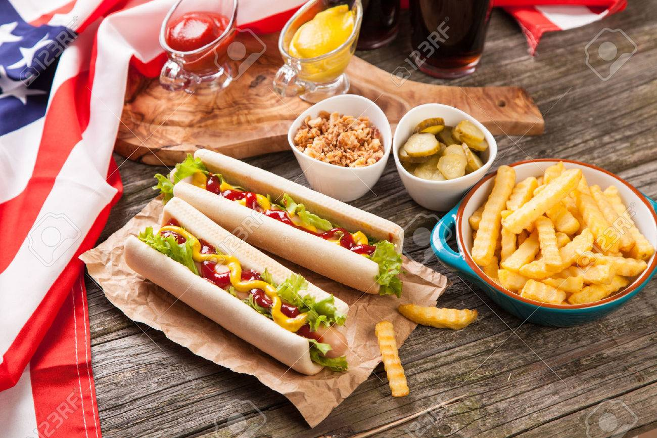 Hot dogs and french fries - 44143498