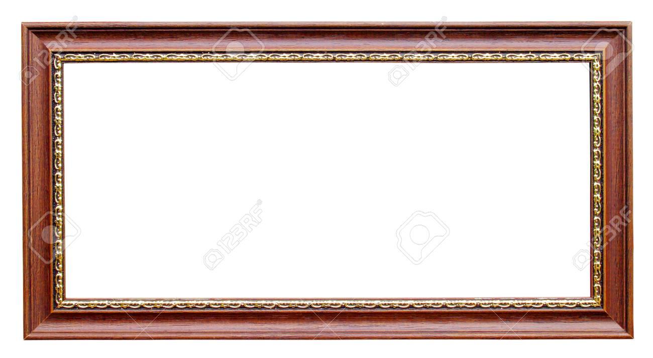 Gold Und Holz-Rahmen Auf Weißem Hintergrund Lizenzfreie Fotos ...