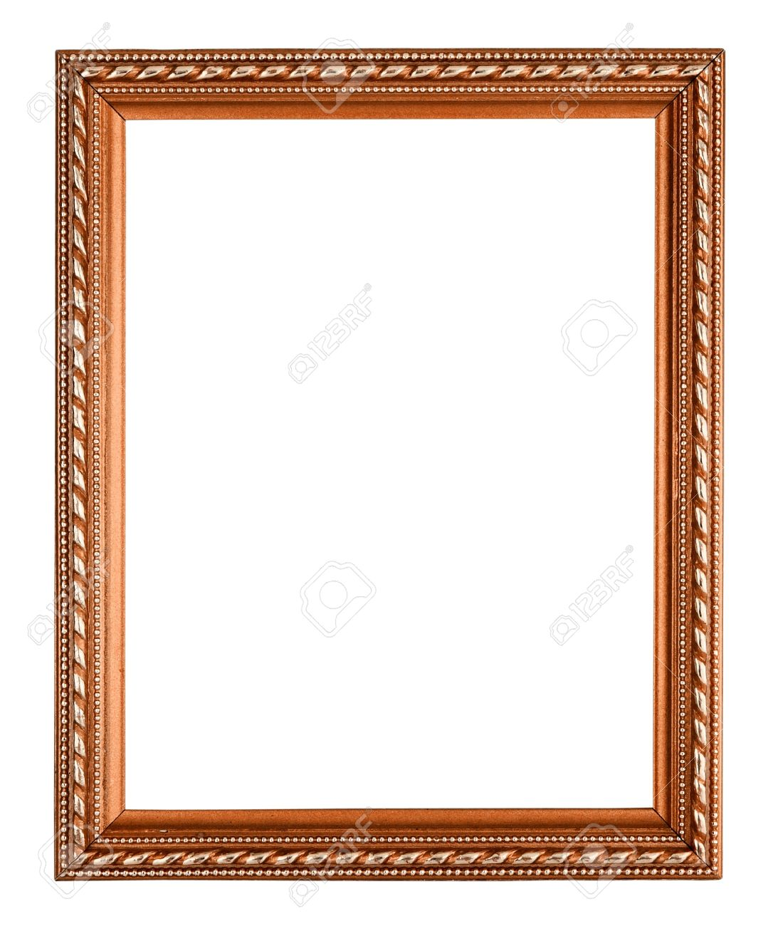 Copper Frame On White Background Stock Photo, Picture And Royalty ...