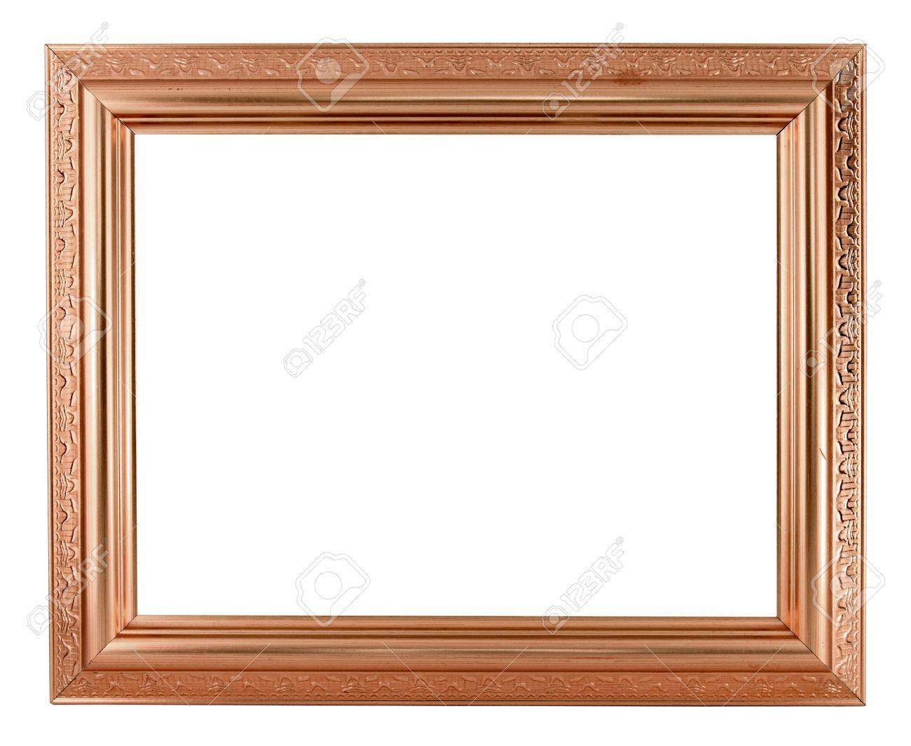 Copper Picture Frame On White Background Stock Photo, Picture And ...