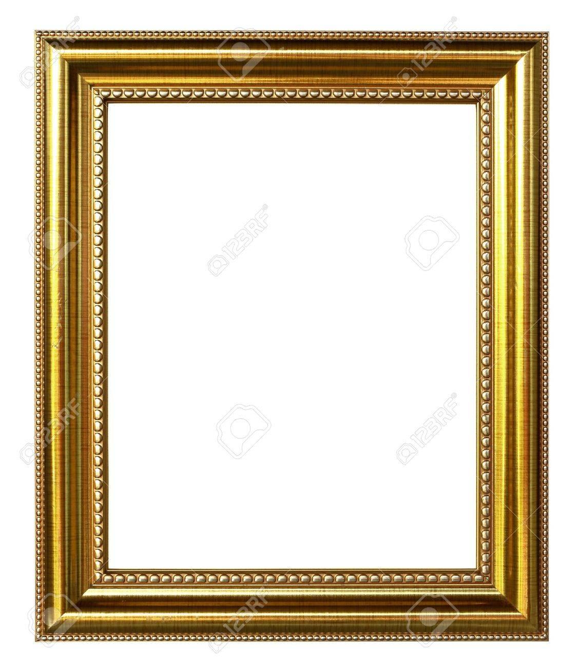 Goldenen Bilderrahmen Auf Weißem Hintergrund Lizenzfreie Fotos ...