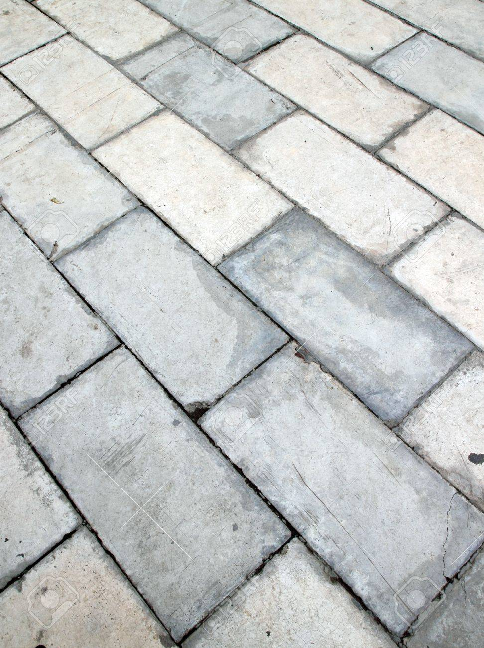 square brick tile walkway background Stock Photo - 13740098