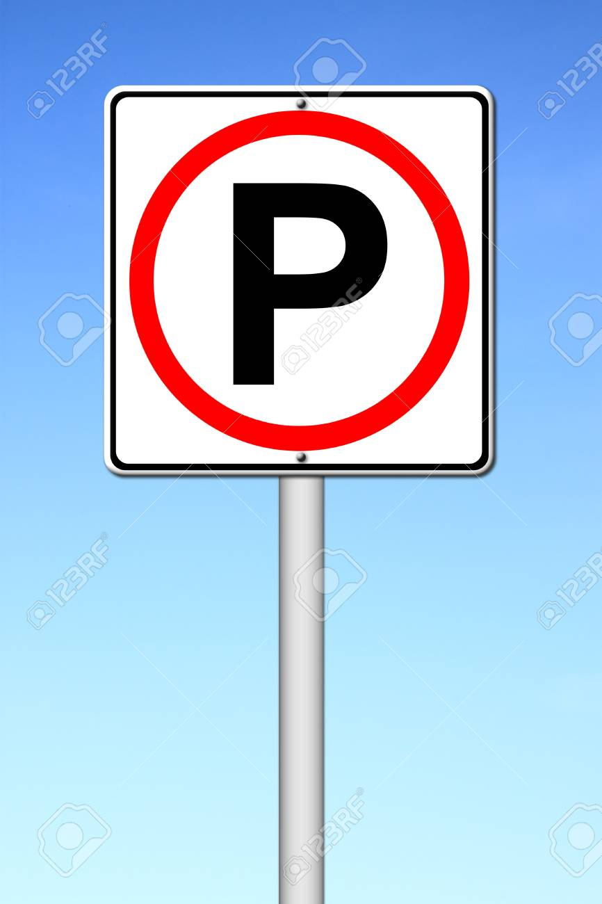 Parking sign over a blue sky Stock Photo - 14609942