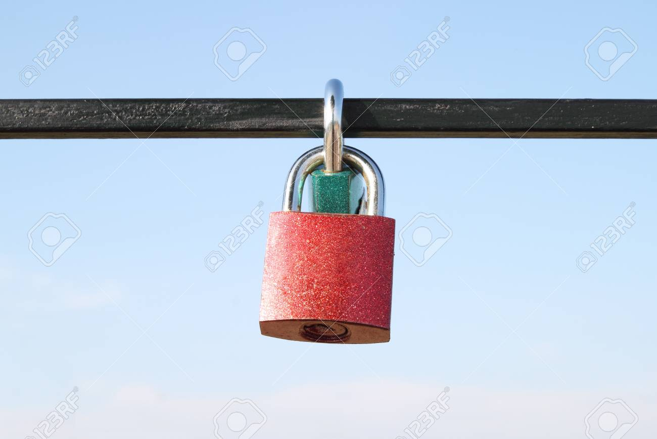 padlock against with blue sky Stock Photo - 17212325