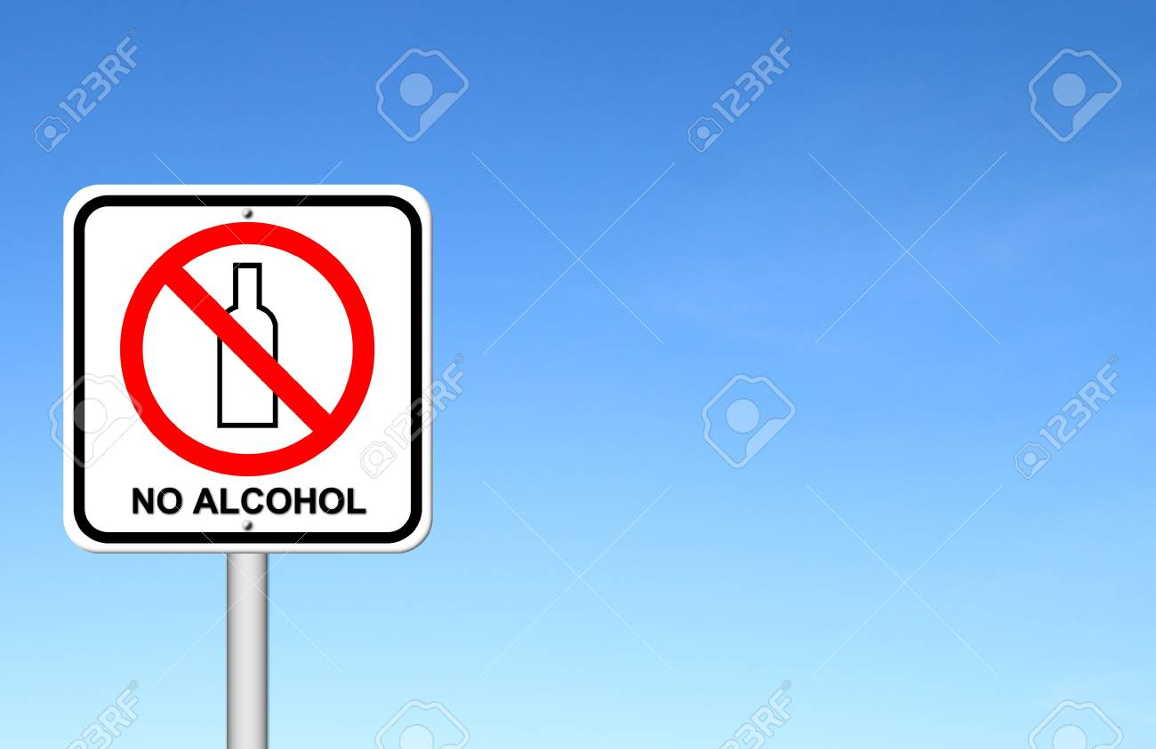 no alcohol sign with blue sky blank for text Stock Photo - 17212321