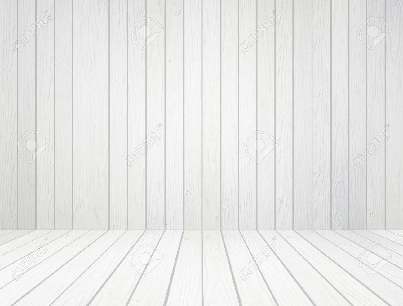 Room Interior With White Wood Wall And Wood Floor Background Stock Photo    20614380