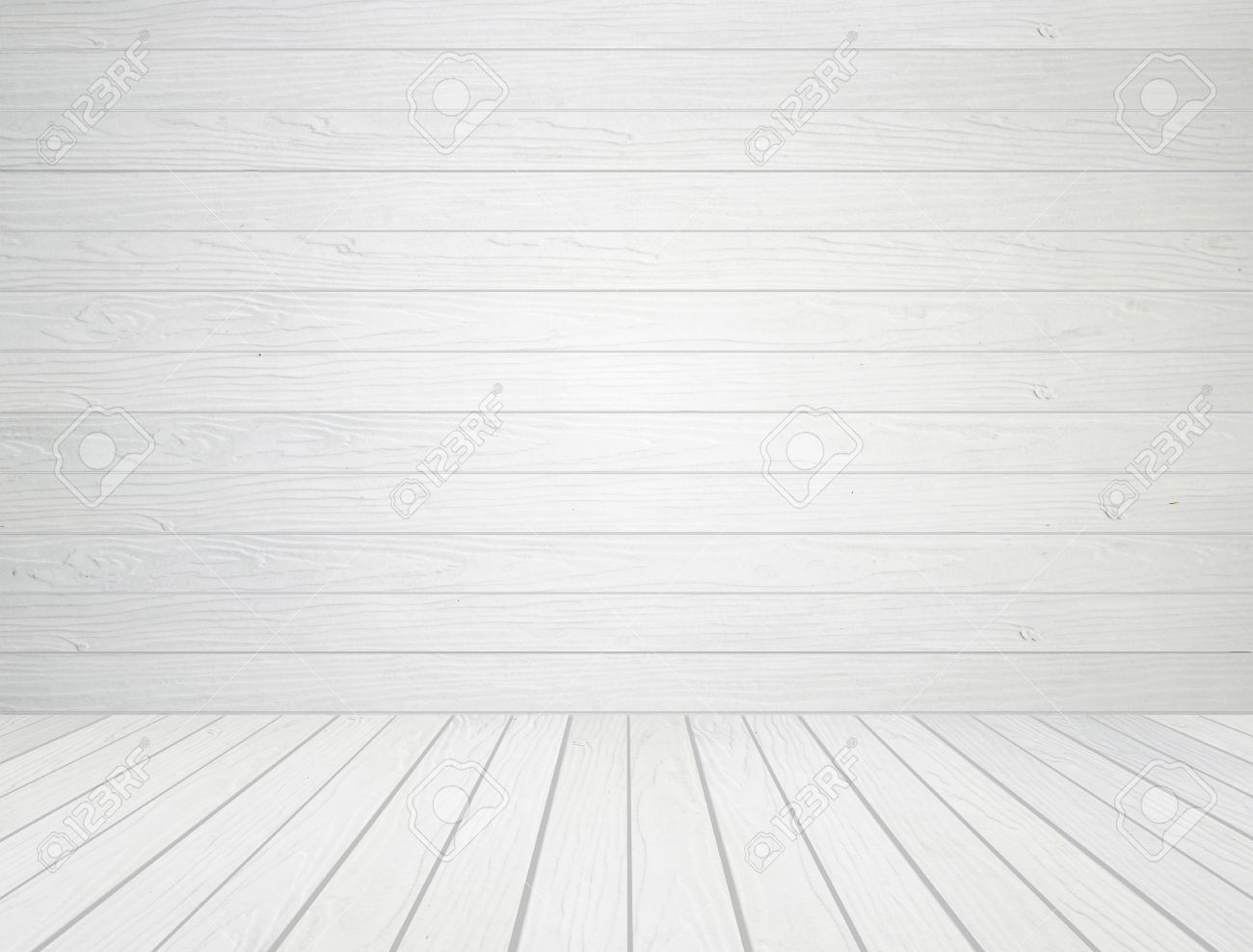 Room Interior With White Wood Wall And Wood Floor Background Stock Photo    20614396