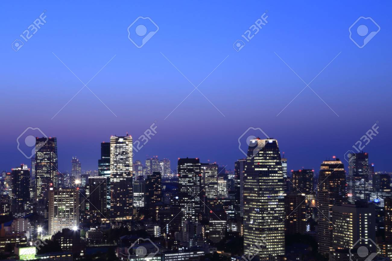 Tokyo cityscape at night of Japan - 29543341