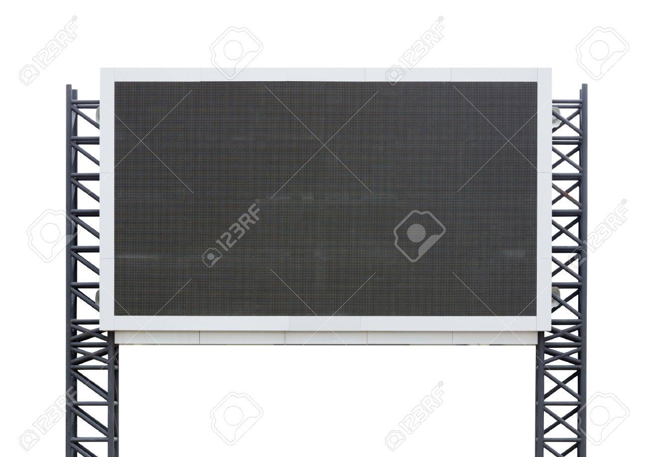 large sign board isolated on a white background (with clipping part) - 47448709