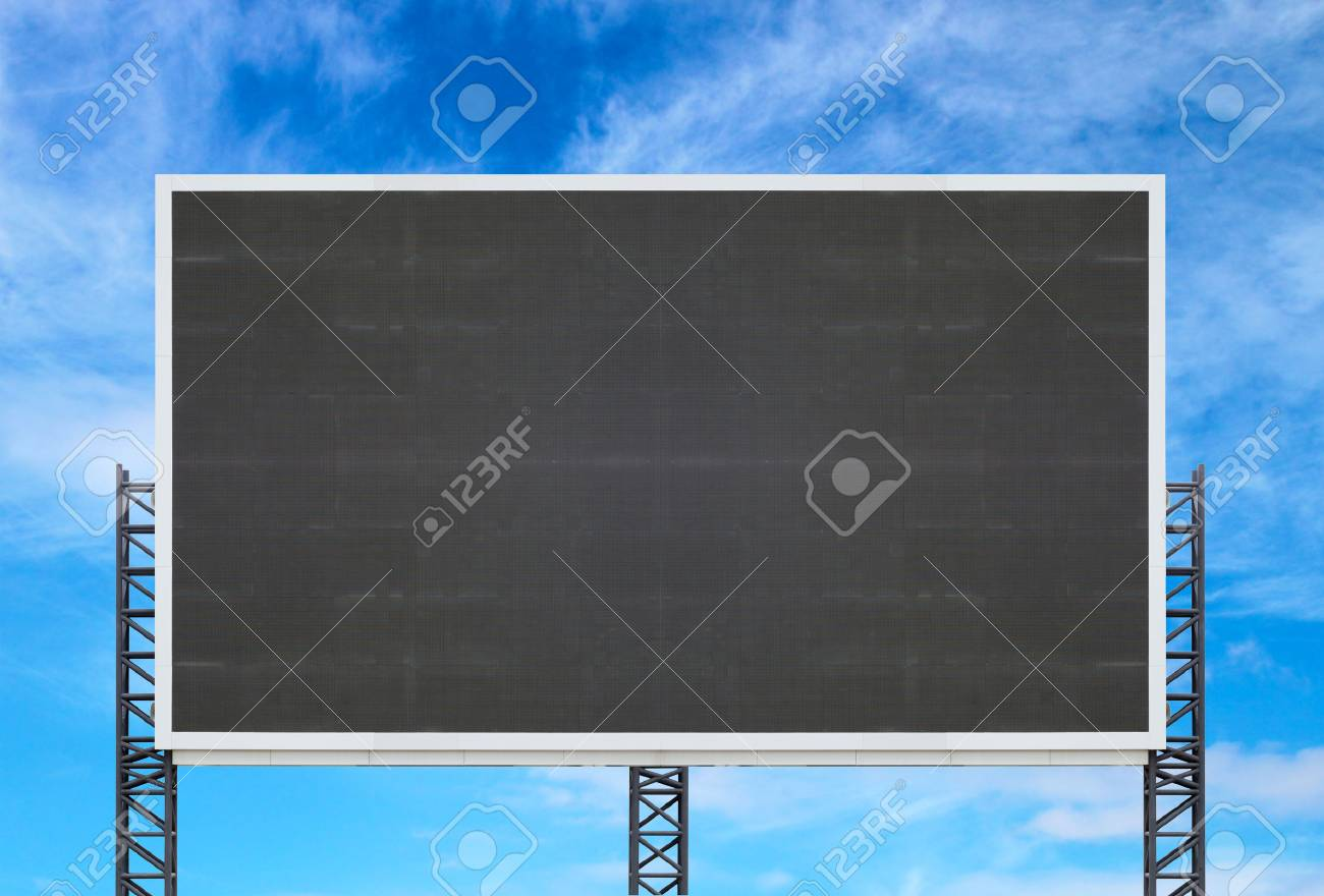 large sign board with blue sky background - 47449236