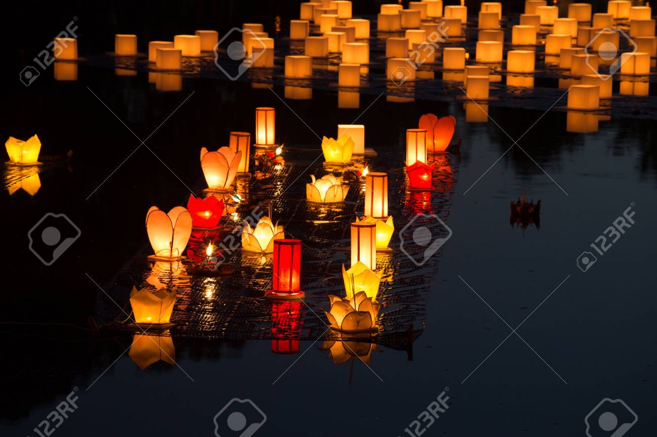 Loy Kratong Festival at Sukhothai Historical Park, Thailand - 49211707