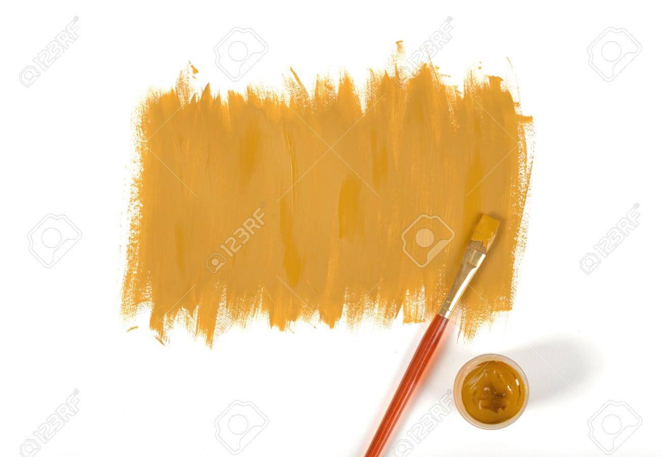 Couleur De Torchis Peint à La Main Avec De La Peinture à La Gouache